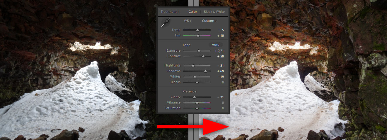 Editing Brightness Contrast Highlights and Shadows